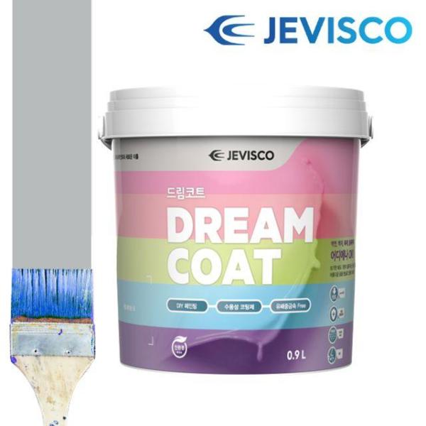제비스코 드림코트 크리스탈 그레이 0.9L 벽지페인 상품이미지