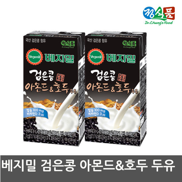 정식품 베지밀 검은콩 아몬드와호두 두유 190mx48팩 상품이미지