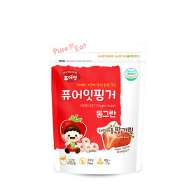 PURE-EAT Finger Brownrice Xylitol Strawberry Ring