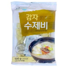송학식품 감자수제비500g/수제비/스프포함/스마일배송
