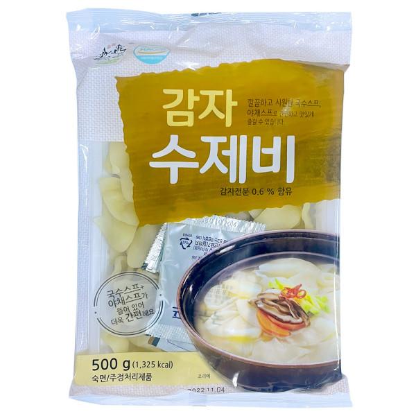 송학식품 감자수제비500g/수제비/스프포함/스마일배송 상품이미지