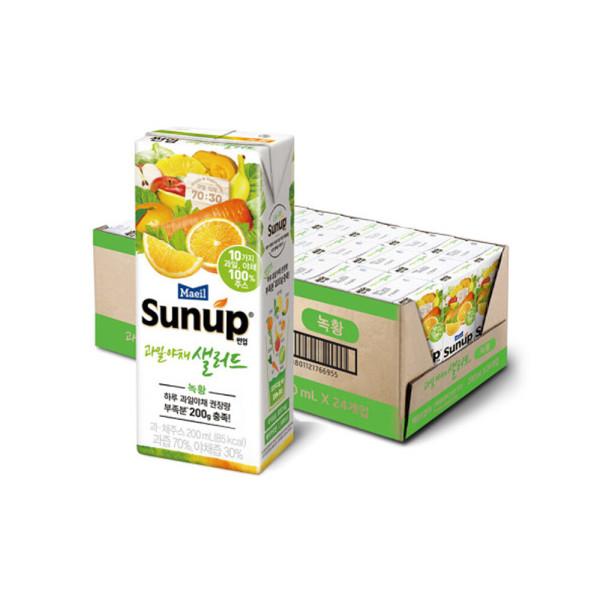 썬업 과일야채샐러드 녹황 200ml24팩/주스/음료수 상품이미지