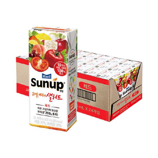 썬업 과일야채샐러드 레드 200ml24팩/주스/음료수 상품이미지