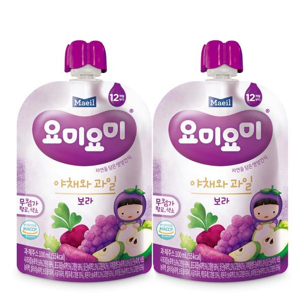 요미요미 야채와과일 보라 100ml 24팩/주스 상품이미지