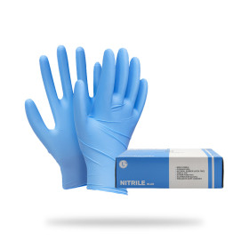 니트릴장갑 블루 100매 요리 식품 실험 다목적 식품용