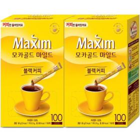 맥심 모카골드 솔루블 블랙커피 (커피만)200T+보틀2개