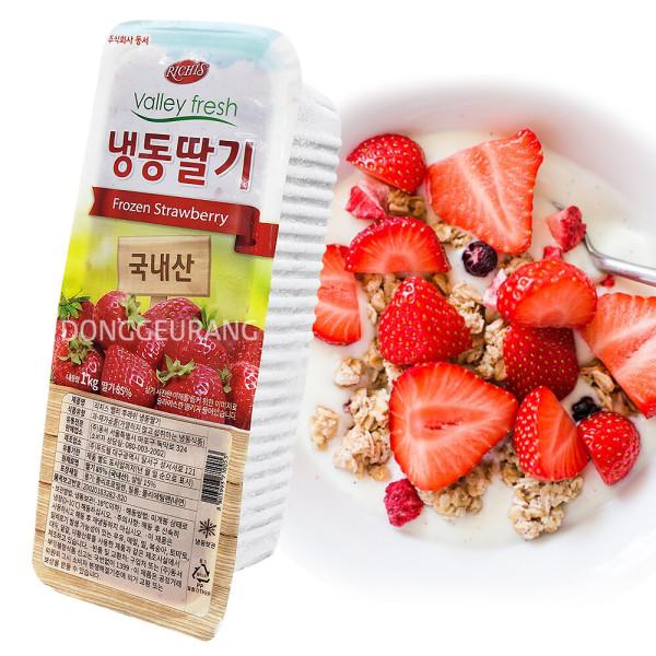 무료배송) 동서 리치스 냉동딸기 슬라이스 1kg x 18팩 상품이미지