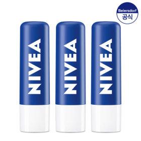 니베아 립밤 립케어 에센셜 케어 4.8g 3개