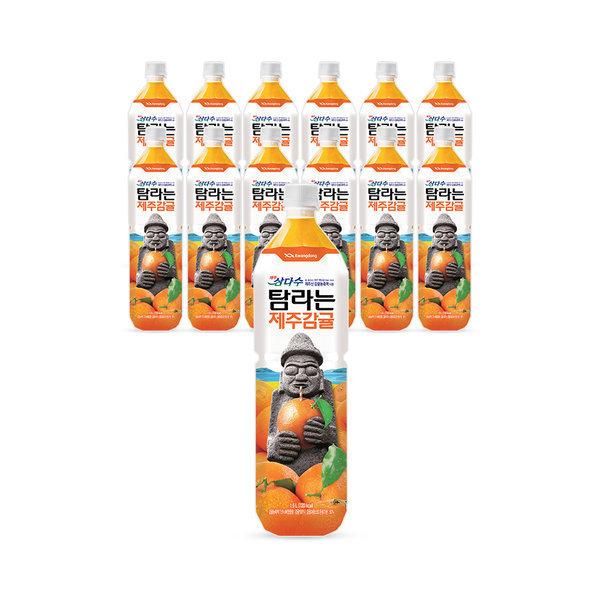 탐라는 제주감귤 1.5L x 12pet/음료수/쥬스 상품이미지