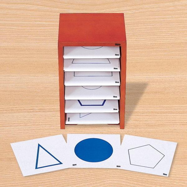 몬테소리 기하도형카드와 상자 / 하나몬테소리 상품이미지