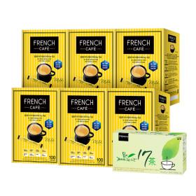 믹스커피/프렌치카페/커피믹스 300T+300T+맛쿡+유리컵