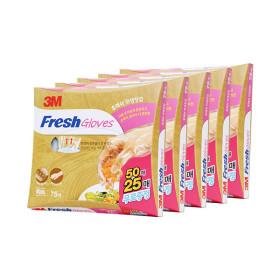 후레쉬 위생장갑 50+25매 5개세트 총 375매