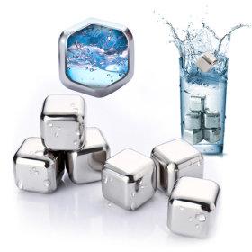 얼음 아이스큐브 6P/녹지않는 얼음/스테인레스얼음