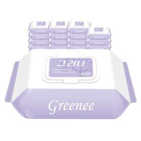 그리니 물티슈 55gsm 캡형 30매 X 20팩 휴대용/엠보싱