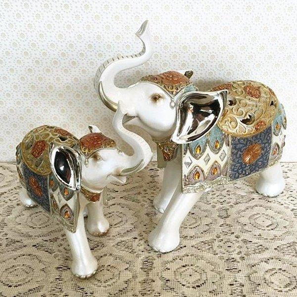 엘레강스 코끼리 2P 코끼리 코끼리 인형 장식 엔틱 상품이미지
