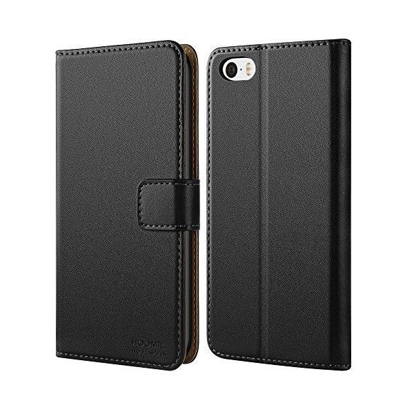 해외쇼핑/HOOMIL iPhone SE Wallet Case  iPhone 5S Case  Premium Leather Flip Folio Case with Card Slo 상품이미지