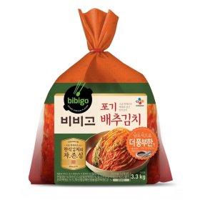 씨제이_비비고포기배추김치 더풍부한맛 _3.3KG