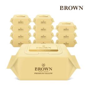 브라운 프리미엄 물티슈 캡형 72매 8팩 + 20매 6팩