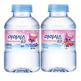 롯데 아이시스 200ml  60펫/ 어린이 생수 안심박스포장