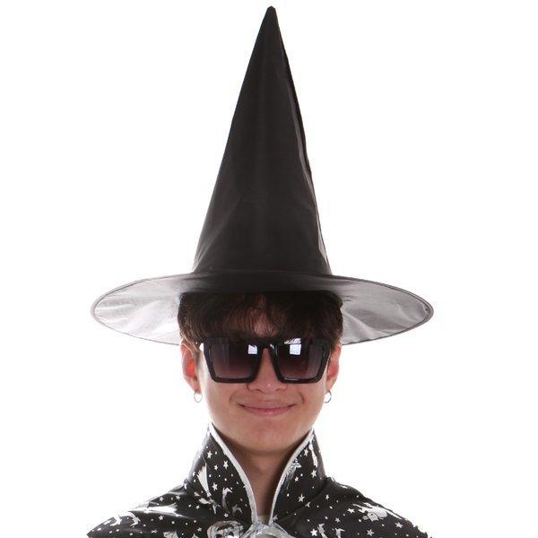 (파티공구) 검정마녀모자(성인) 검정 마녀 모자 성인 할로윈 의상 소품 파티 이벤트 상품이미지