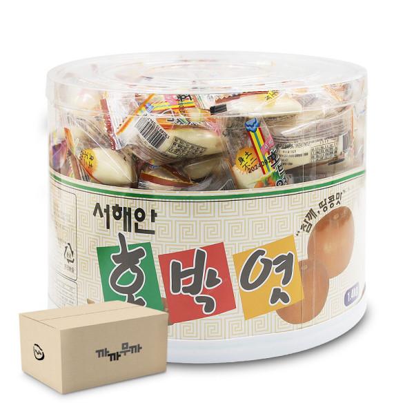 (서해안) 호박엿 1.4kg /수능엿 합격엿 (1박스-4통) 상품이미지