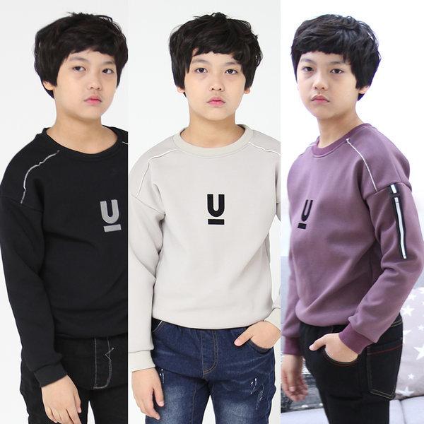 제이알준 u기모티 남아주니어의류 초등학생 기모티셔츠 상품이미지