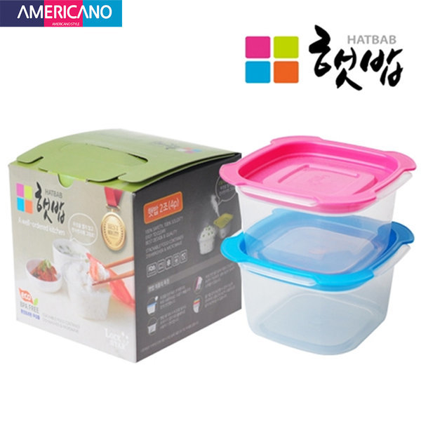 전자렌지용기 밥보관용기 주방용품 밥용기 냉동밥 2p 상품이미지