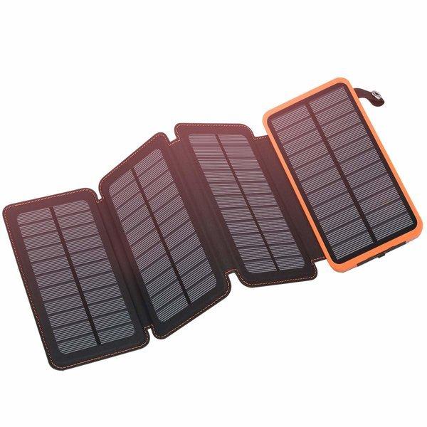 FEELLE 휴대용 태양광 충전기 방수 외장 배터리 Orange 상품이미지