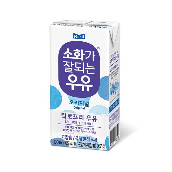 소화가잘되는우유 190ml x 16팩 상품이미지