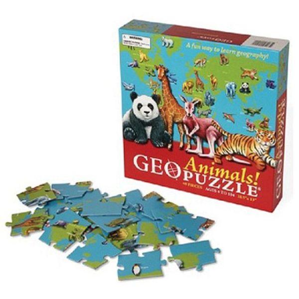 직소퍼즐 48조각 지오퍼즐 애니멀 세계 지도 상품이미지