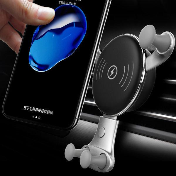 차량용 핸드폰 거치대 송풍구 휴대폰 무선충전거치대 상품이미지