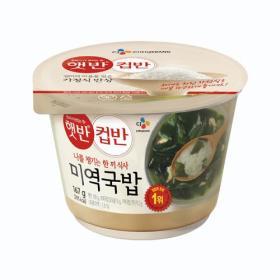 CJ 햇반컵반(미역국밥) 167g