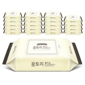 아기물티슈 나비의꿈 리필형60매55g 20팩  +휴대용4팩