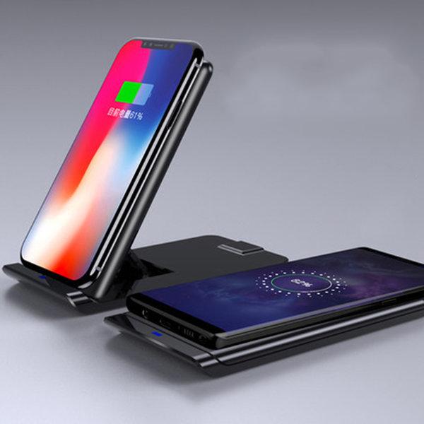 갤럭시/아이폰 고속무선충전기 스탠드형 거치대 패드 상품이미지