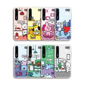BT21 iPhone 루미스 캐릭터 그래픽 라이팅 케이스