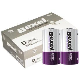벡셀 망간건전지 D(R20)/ 24알/ 1박스/ Bexel