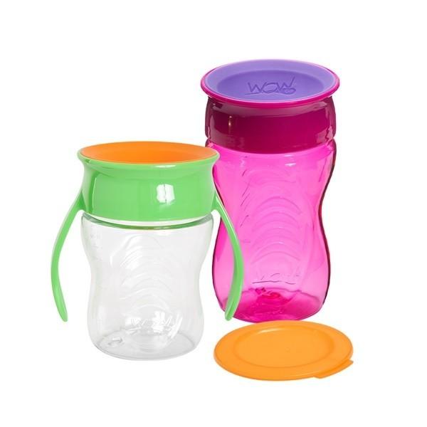 와우컵  트라이탄 2종세트(베이비+키즈/뚜껑포함)-컬러선택 /빨대없는빨대컵/어린이집준비물 상품이미지