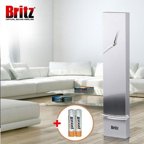 브리츠 BZ-CL2486 무소음 인테리어 벽시계 실버 상품이미지