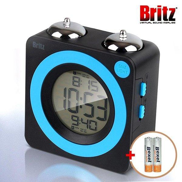 브리츠 BZ-CL665-ET 클래식 트윈벨 LED 알람시계 상품이미지