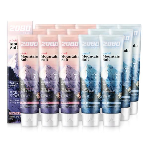 2080 히말라야 마운틴솔트 치약 x6개(핑크+크리) 상품이미지