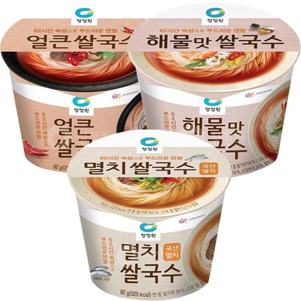깜짝할인/청정원 쌀국수 멸치 얼큰 해물 12개 김치 상품이미지