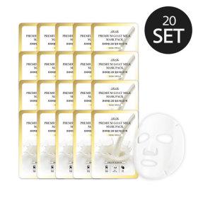 프리미엄 산양유 마스크팩 20매 세트 주름개선/미백