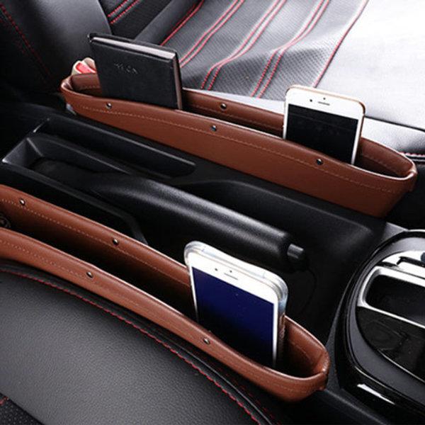 차량포켓 차량틈새포켓 차량용 틈새 포켓 블랙 1+1 상품이미지