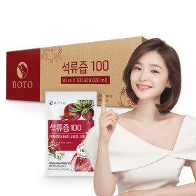Pomegranate juice 100 pomegranate squeeze 100% practical type 100 sticks 1 box