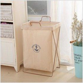 빨래 세탁 라탄 바구니 정리함 용품 / 라탄 아이보리