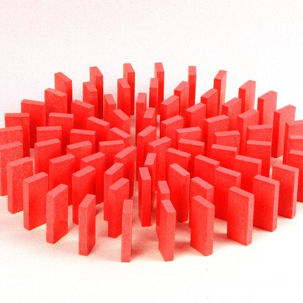 무지개 원목 도미노100pcs 리필용(빨강) 상품이미지