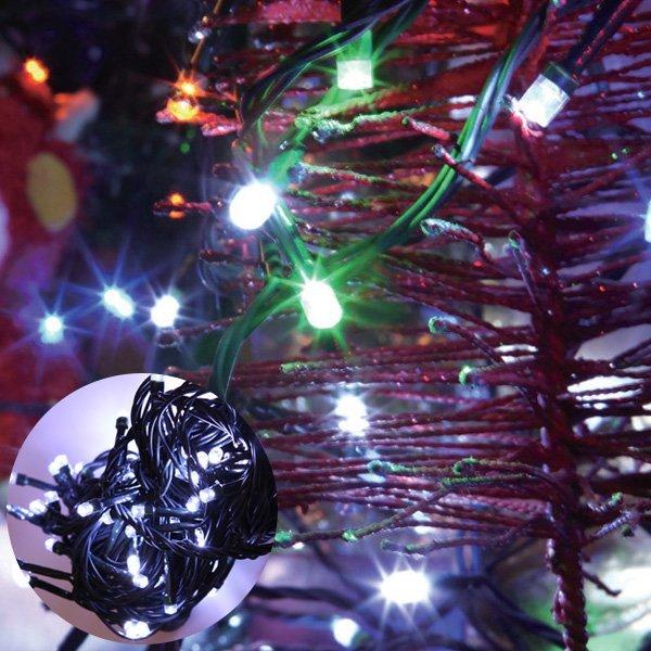 (파티공구) LED100구전구연결잭(녹색선/백색) LED 100구 전구 트리 크리스마스 장식 추리 소품 용품 상품이미지