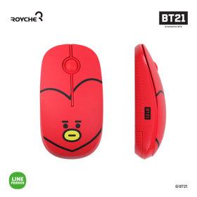 우주스타 BT21 무소음 무선 마우스 타타