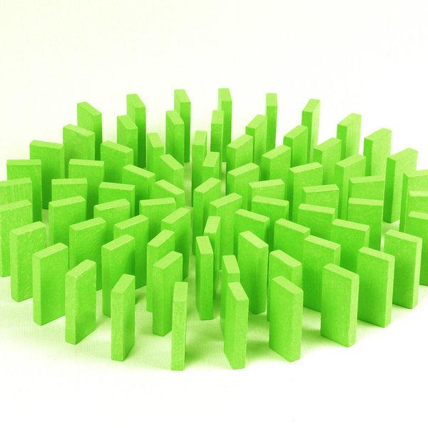 무지개 원목 도미노100pcs 리필용(초록) 상품이미지