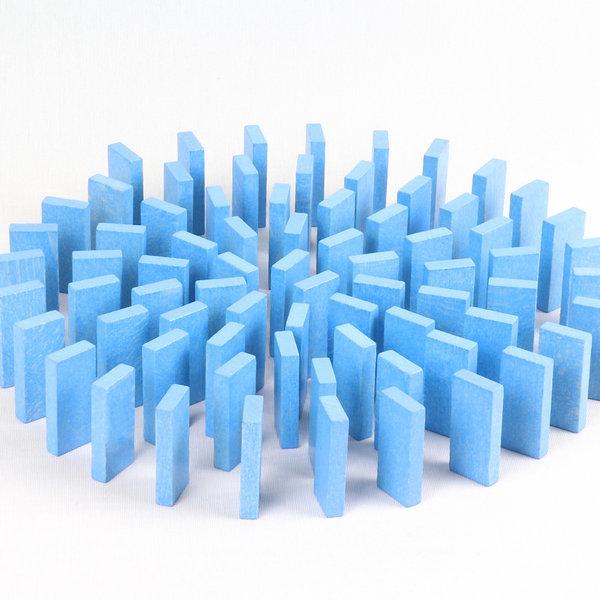 무지개 원목 도미노100pcs 리필용(파랑) 상품이미지
